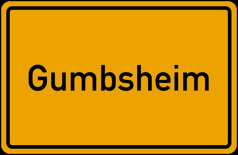 Ortsschild Gumbsheim