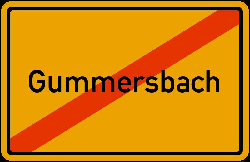 Ortsschild Gummersbach