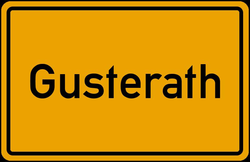 Ortsschild Gusterath