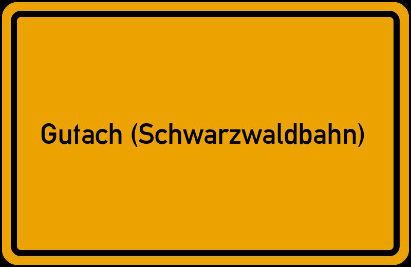 Ortsschild Gutach (Schwarzwaldbahn)