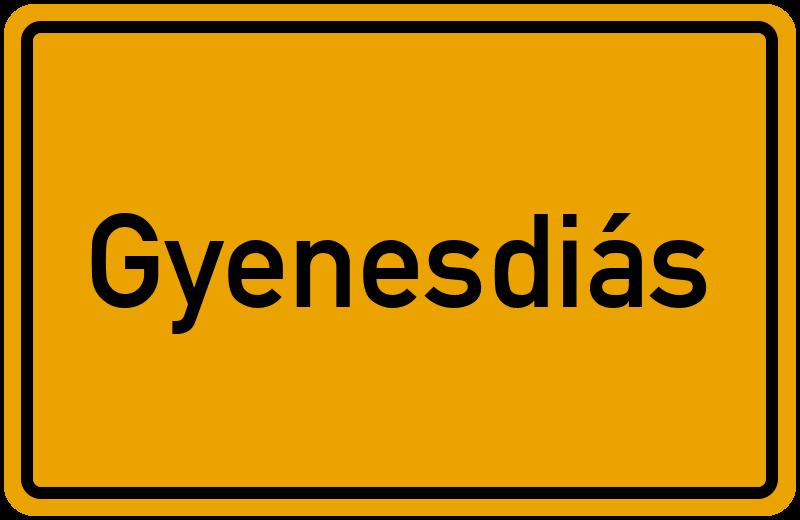 Ortsschild Gyenesdiás