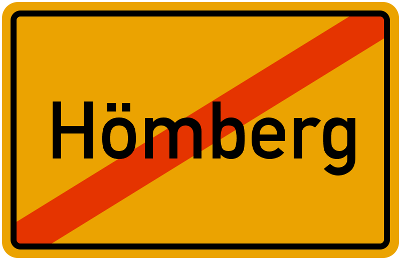 Ortsschild Hömberg