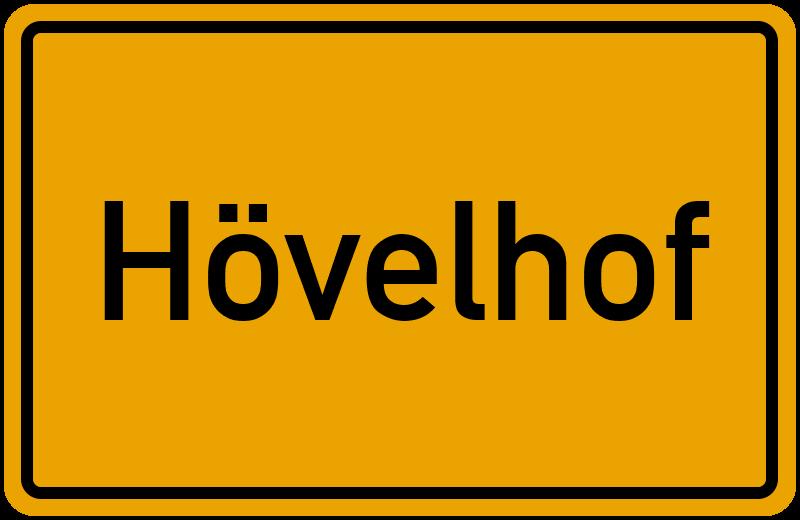Ortsschild Hövelhof