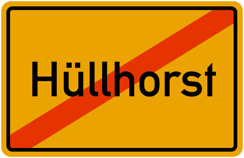 Ortsschild Hüllhorst