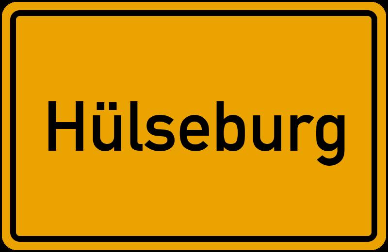 Ortsschild Hülseburg