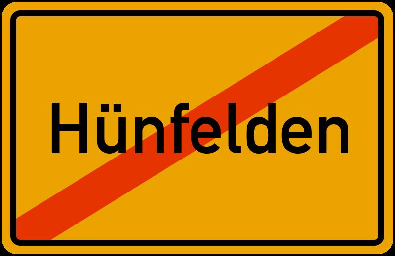 Ortsschild Hünfelden