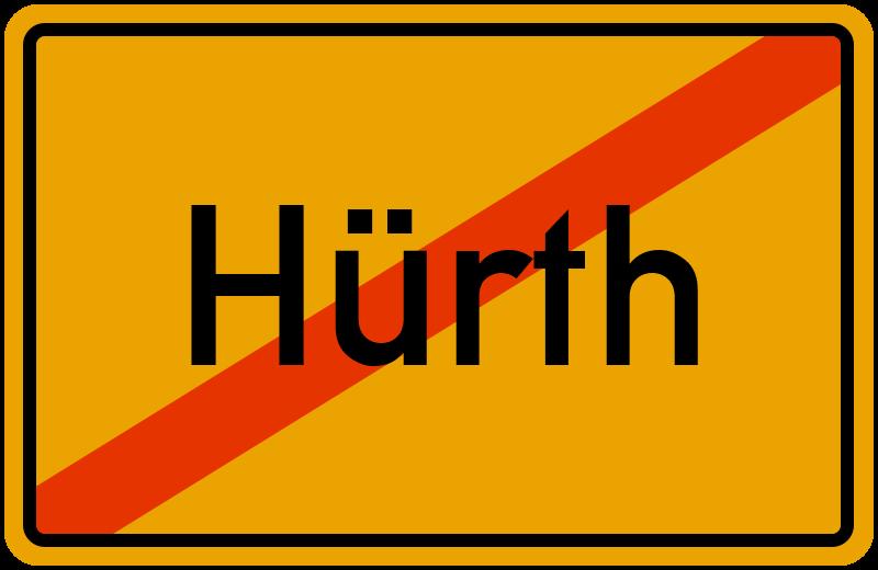 Ortsschild Hürth