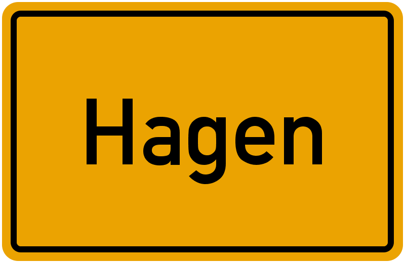 Ortsschild Hagen