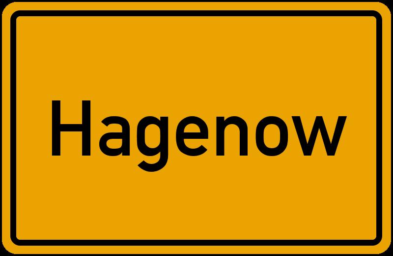 Ortsschild Hagenow