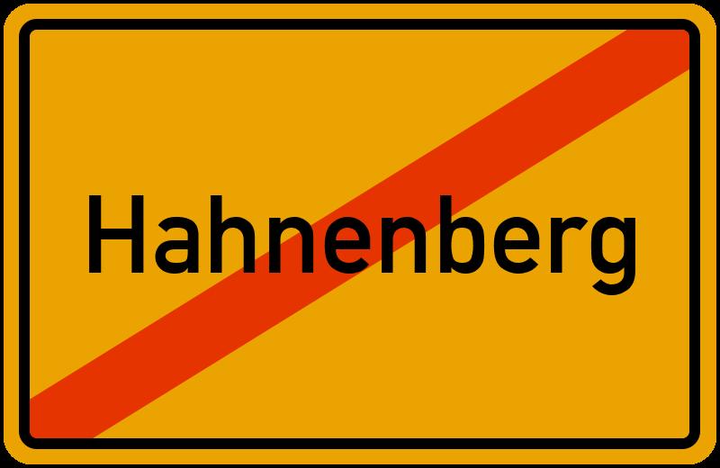 Ortsschild Hahnenberg