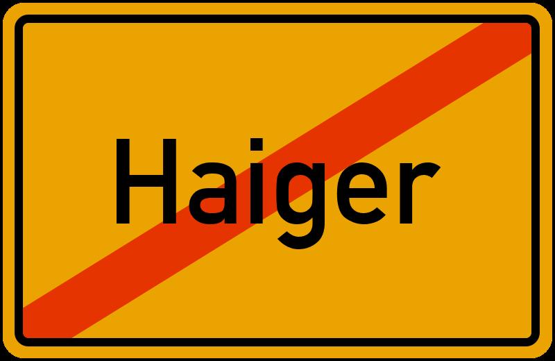 Ortsschild Haiger