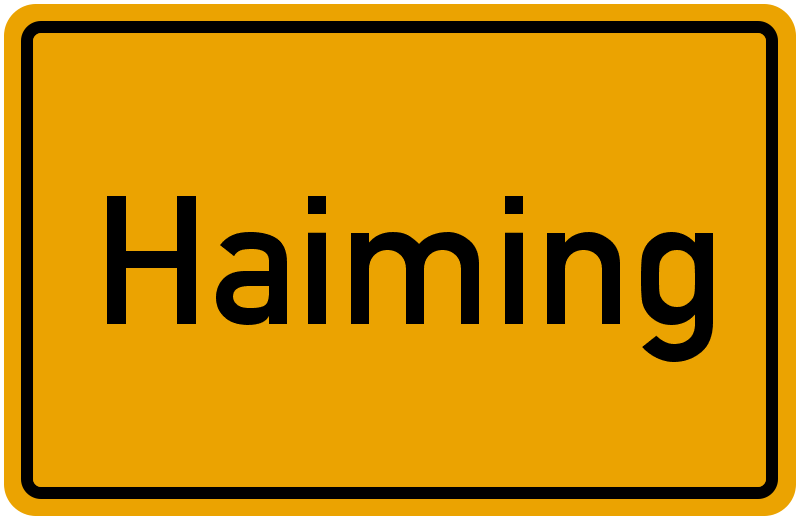 Ortsschild Haiming