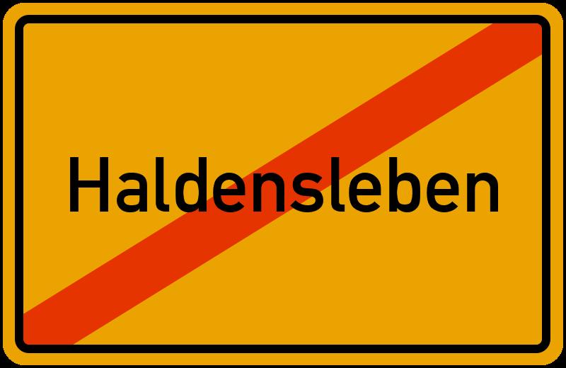 Ortsschild Haldensleben