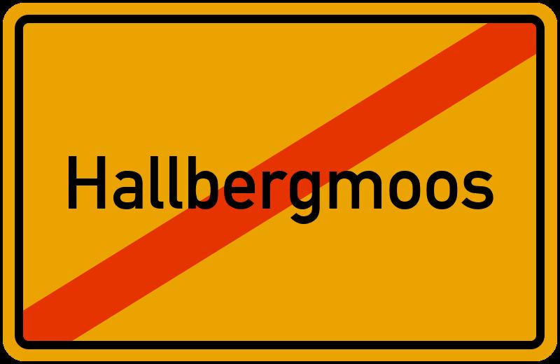 Ortsschild Hallbergmoos