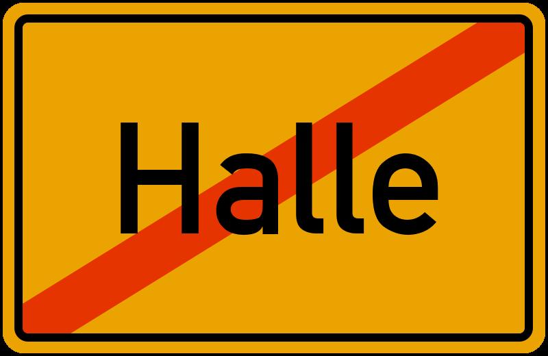Ortsschild Halle