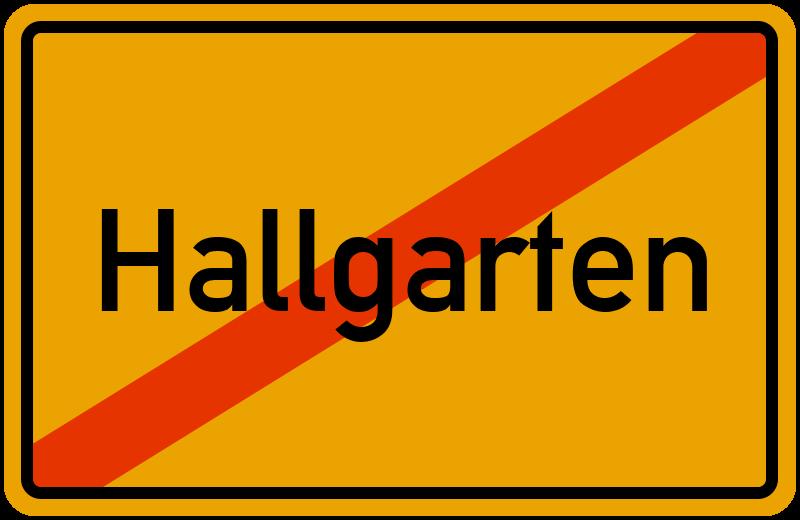 Ortsschild Hallgarten