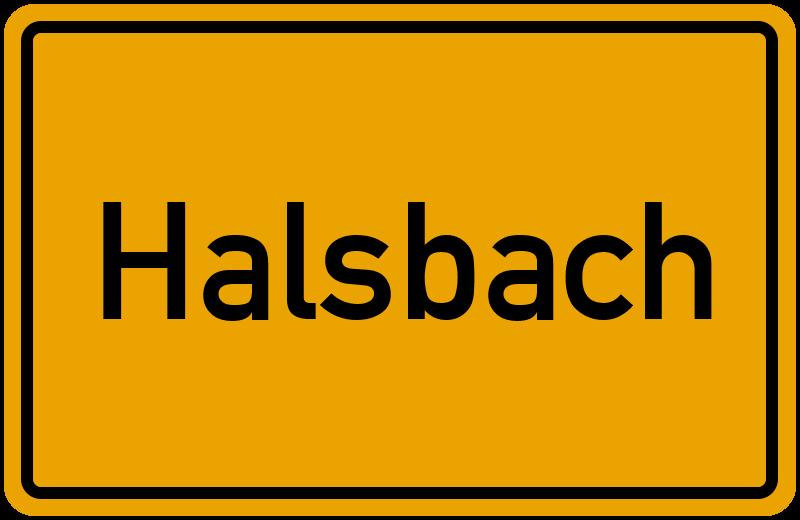 Ortsschild Halsbach