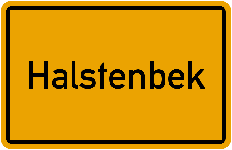 Ortsschild Halstenbek