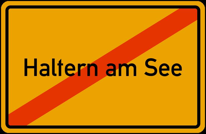 Ortsschild Haltern am See