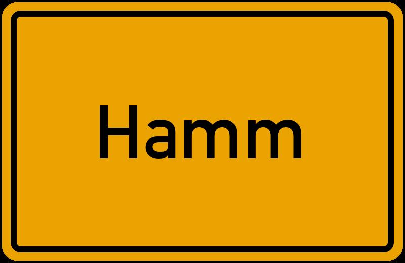 Ortsschild Hamm