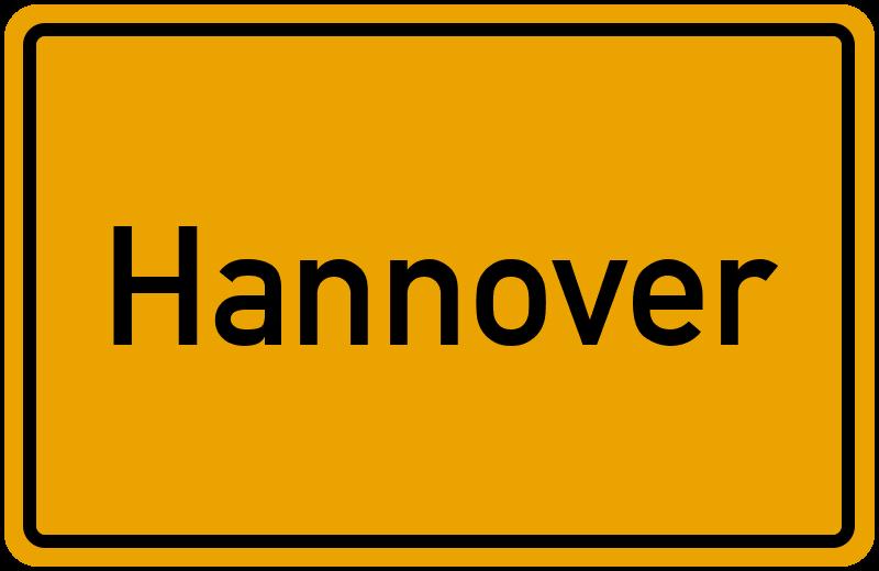Ortsschild Hannover