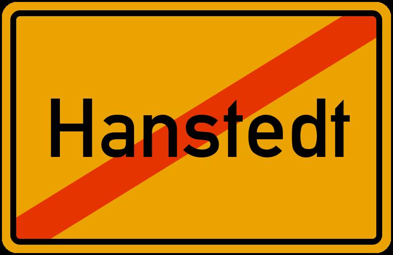 Ortsschild Hanstedt