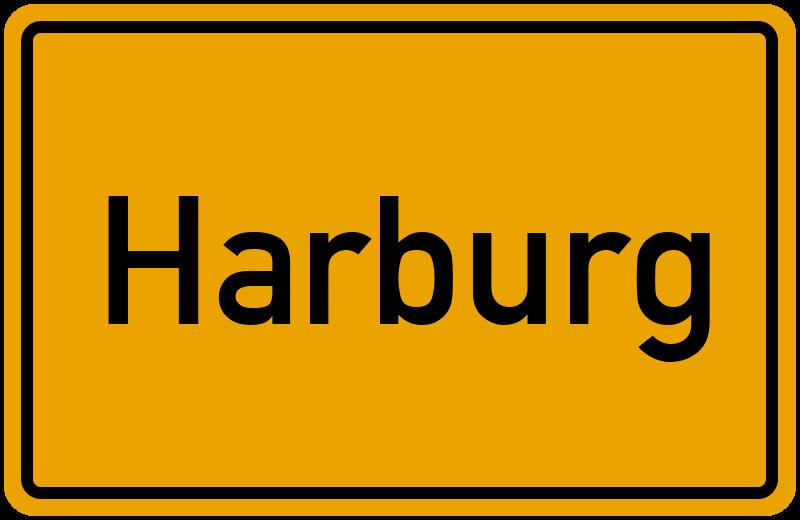 Ortsschild Harburg