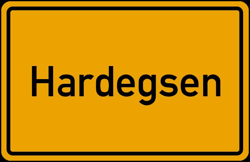 Ortsschild Hardegsen