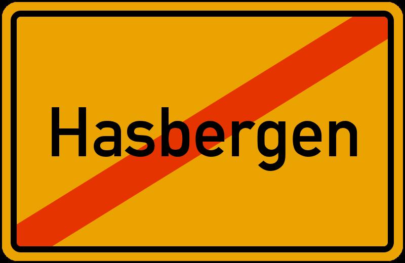 Ortsschild Hasbergen