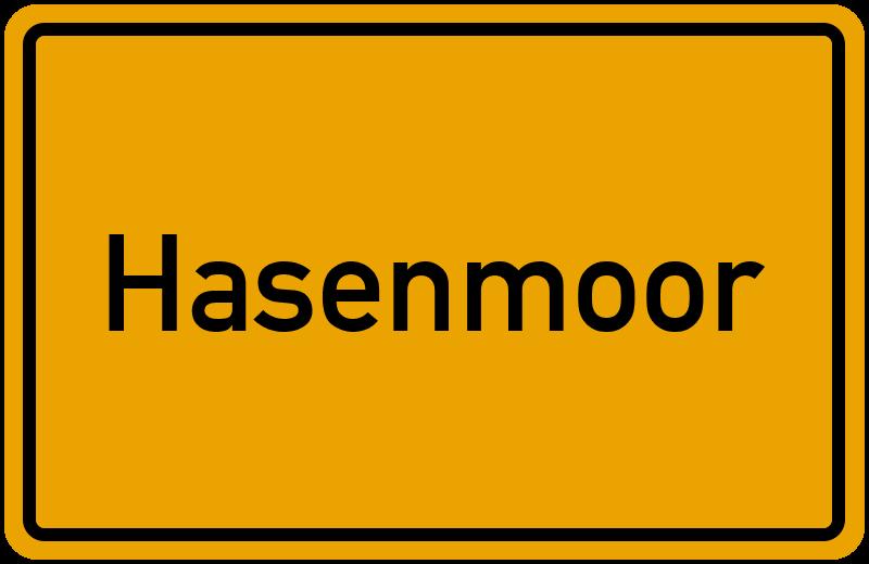 Ortsschild Hasenmoor