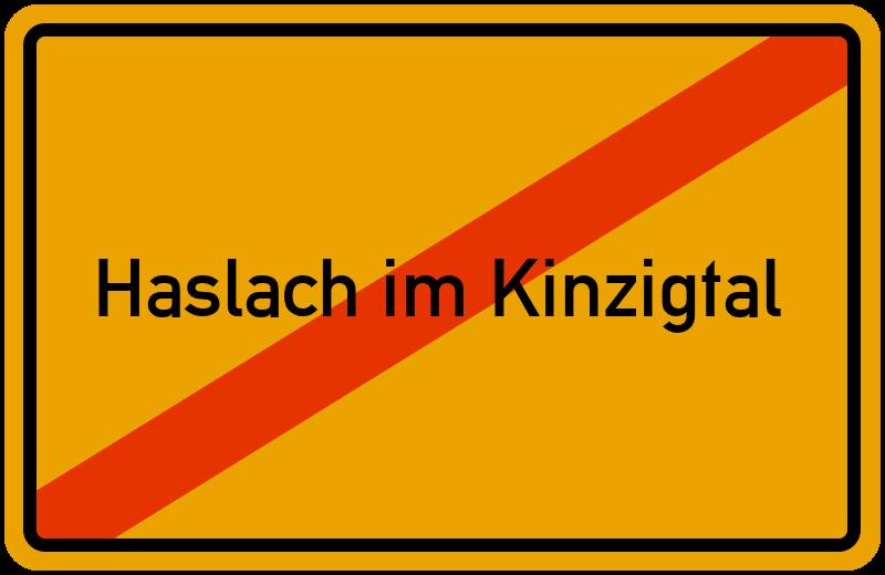 Ortsschild Haslach im Kinzigtal