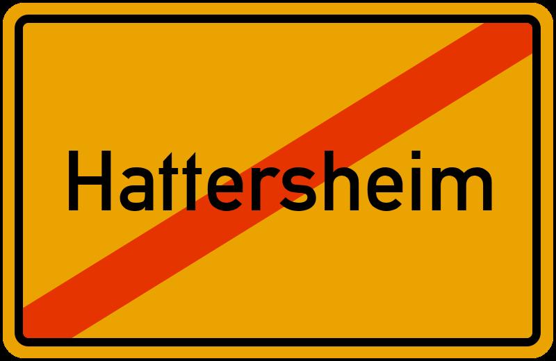 Ortsschild Hattersheim