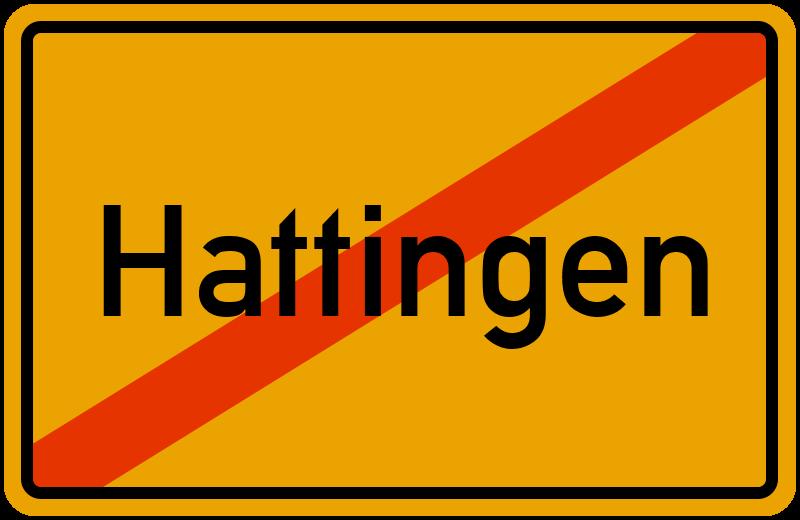 Ortsschild Hattingen