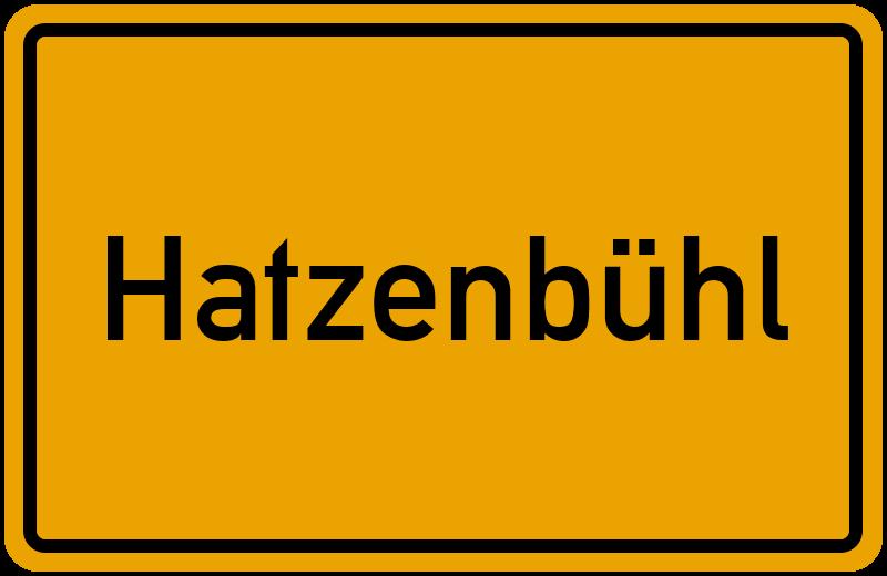 Ortsschild Hatzenbühl