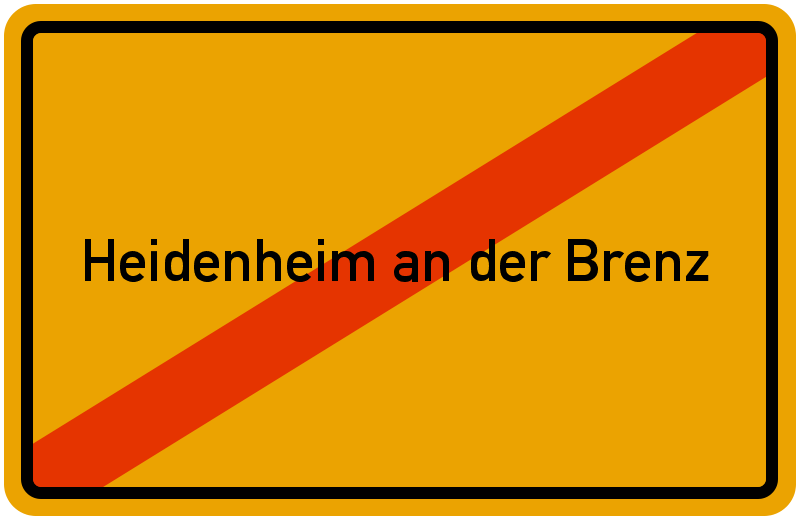 Ortsschild Heidenheim an der Brenz