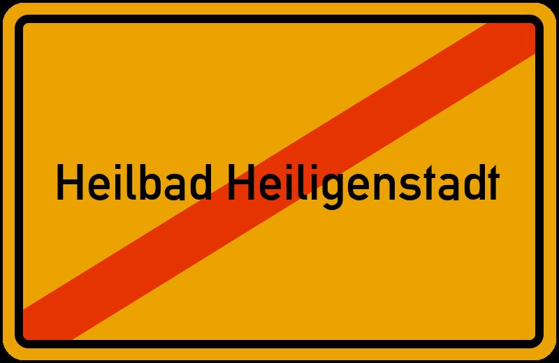 Ortsschild Heilbad Heiligenstadt