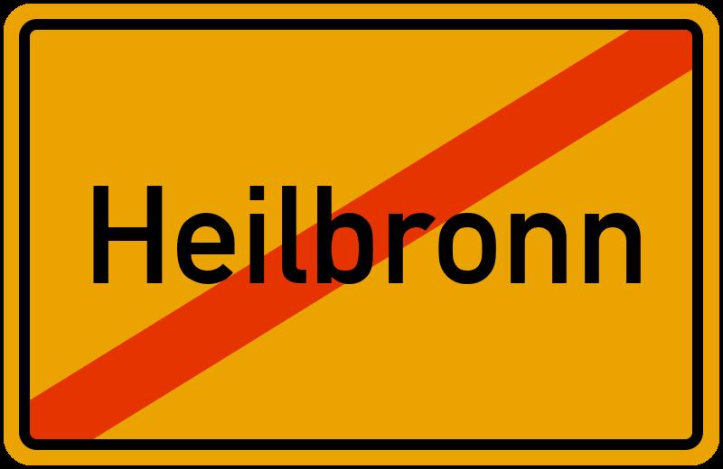 Ortsschild Heilbronn