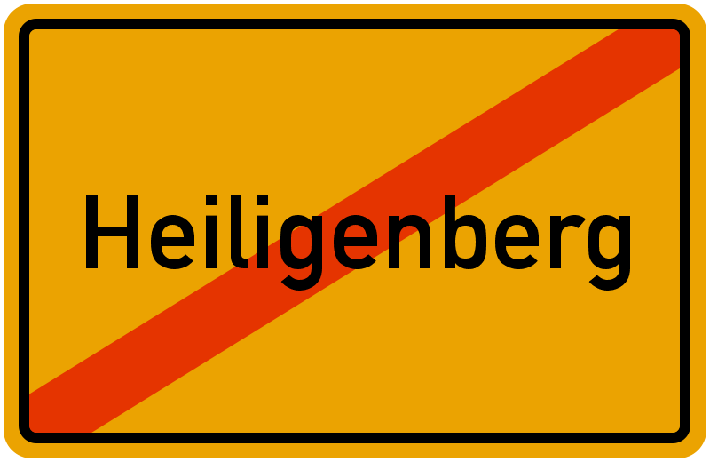 Ortsschild Heiligenberg