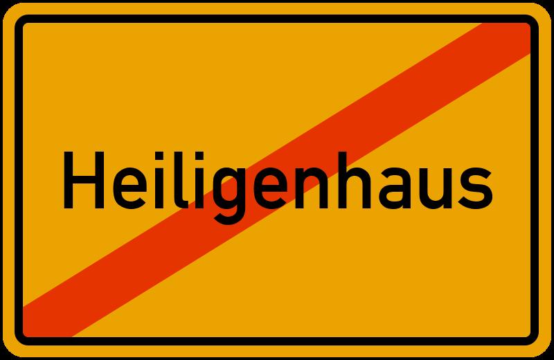 Ortsschild Heiligenhaus