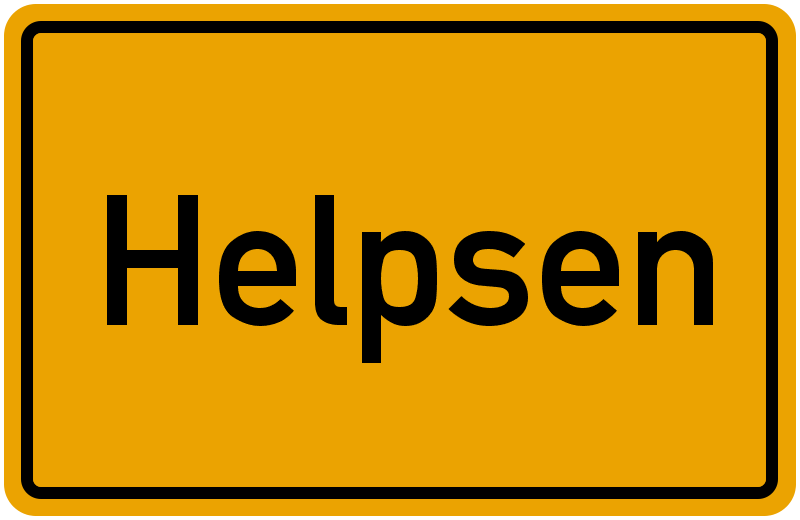 Ortsschild Helpsen