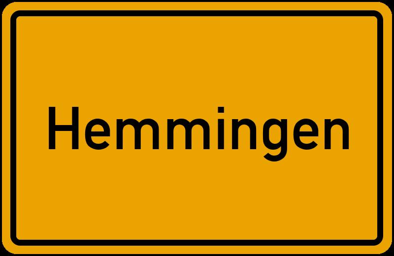 Ortsschild Hemmingen
