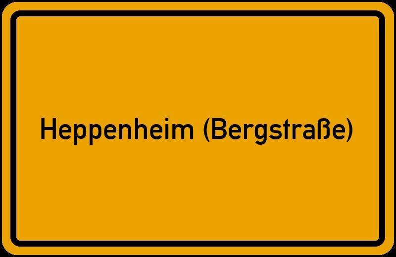 Ortsschild Heppenheim (Bergstraße)