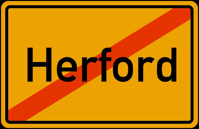 Ortsschild Herford