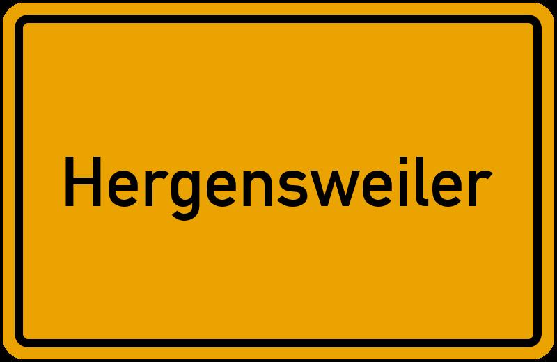 Ortsschild Hergensweiler