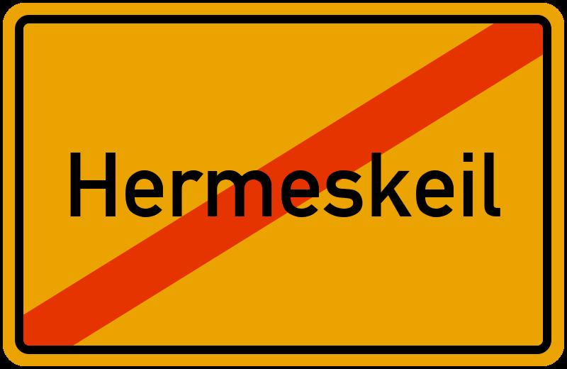 Ortsschild Hermeskeil
