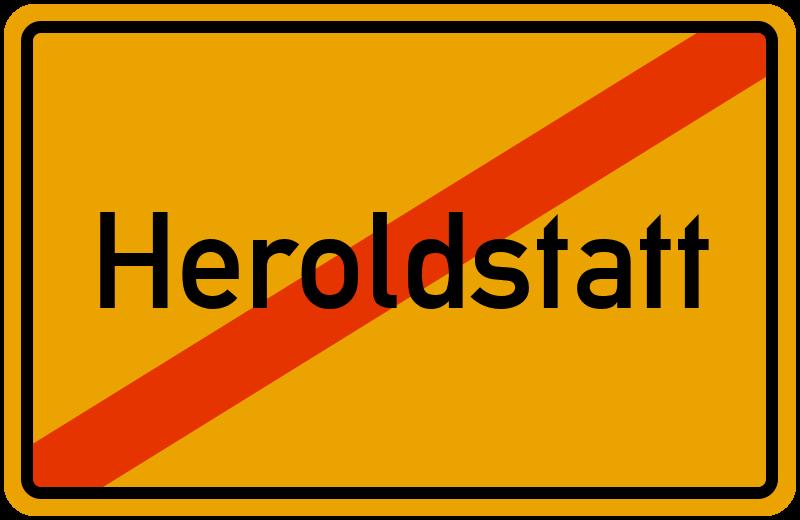 Ortsschild Heroldstatt