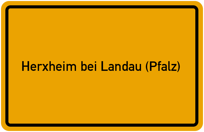 Ortsschild Herxheim bei Landau (Pfalz)