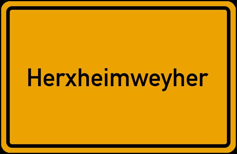Ortsschild Herxheimweyher