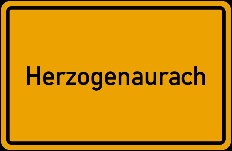 Ortsschild Herzogenaurach