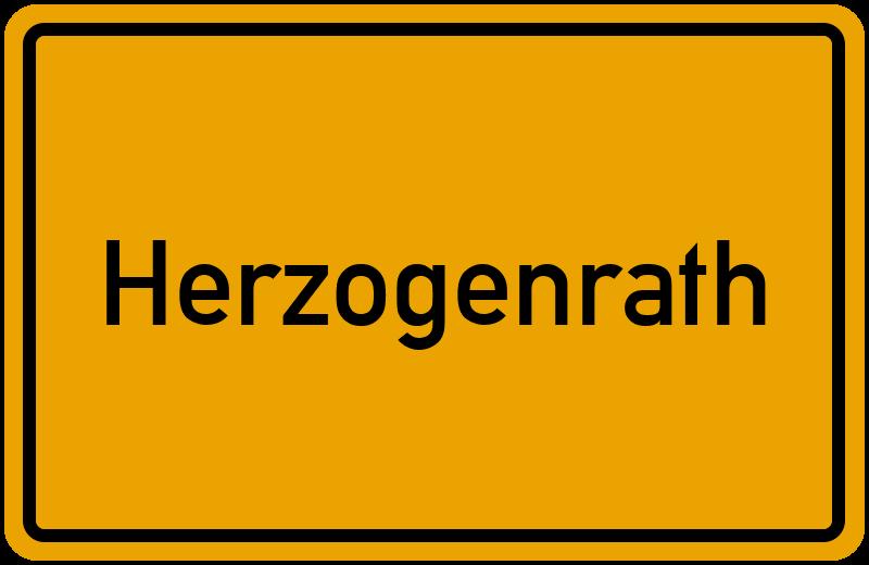 Ortsschild Herzogenrath